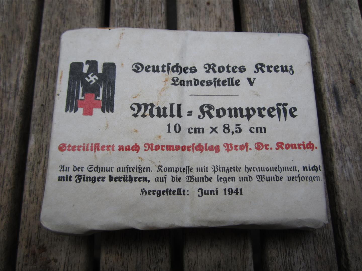 WW2 DRK Mull-Kompresse Packet